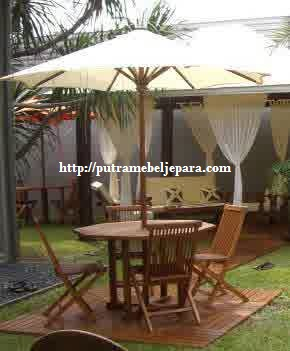 Set Meja Payung Taman Furniture