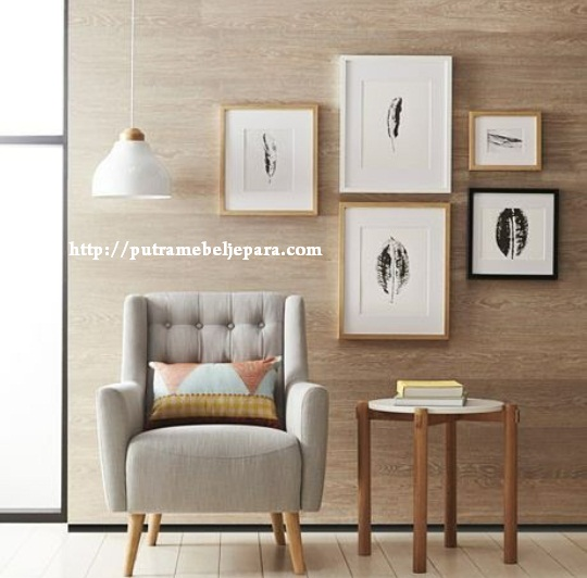 Kursi Sofa Scandinavian Single Kayu Jati